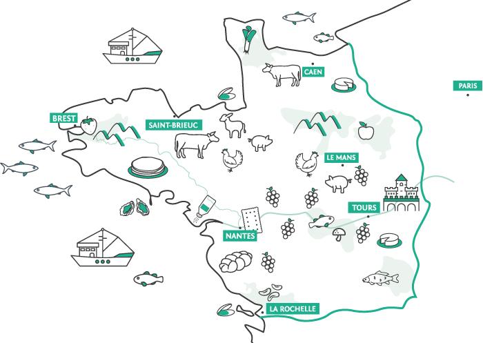 carte grand ouest osmav karine jaffrelot On se met au vert, des escapades qui ont du goût !